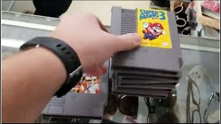 Live Retro Video Game Hunting Episode #55 Boxed Nintendo games. Thrifting & Flea Market Haul !!