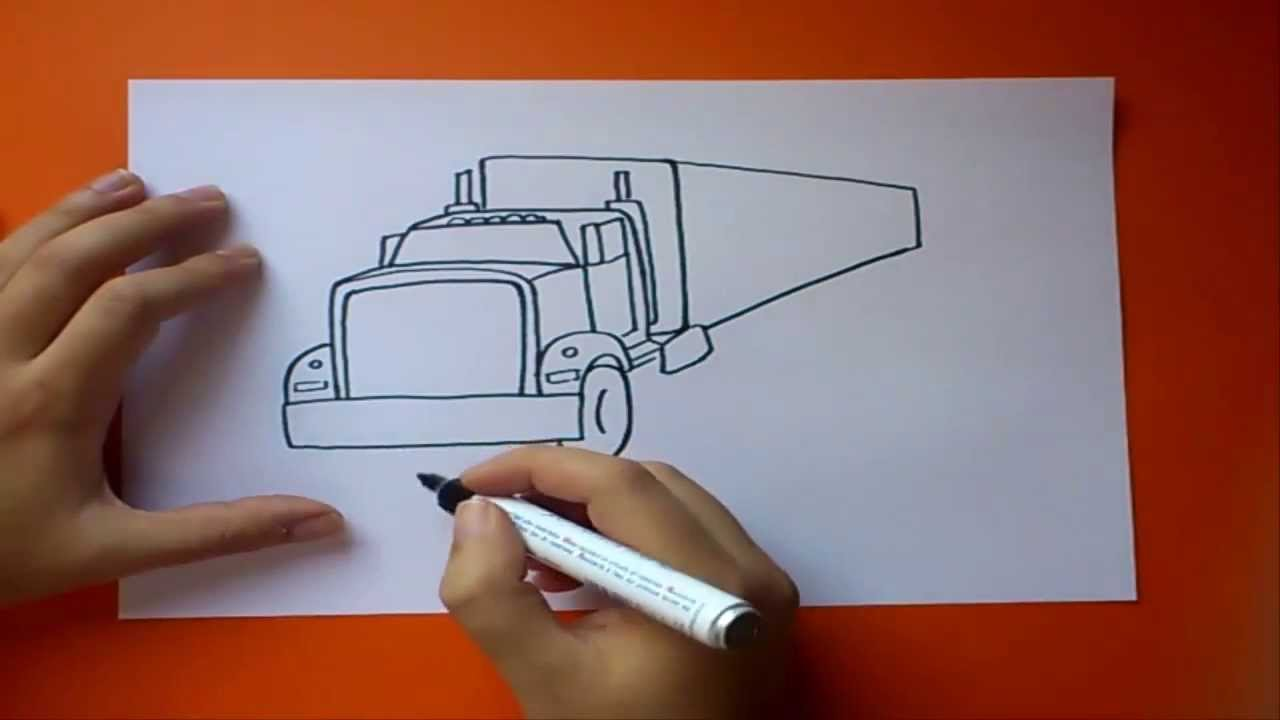 Como dibujar un camin paso a paso  How to draw a truck  YouTube
