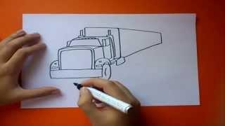 Como dibujar un camión paso a paso | How to draw a truck