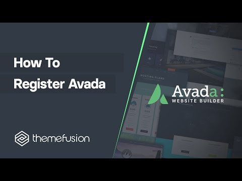 How To Register Avada Video