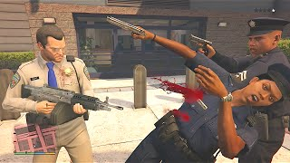 Sly Gameplay - GTA 5 Trevor And Michael's Vespucci Beach Police Station Assault/Five Star Escape