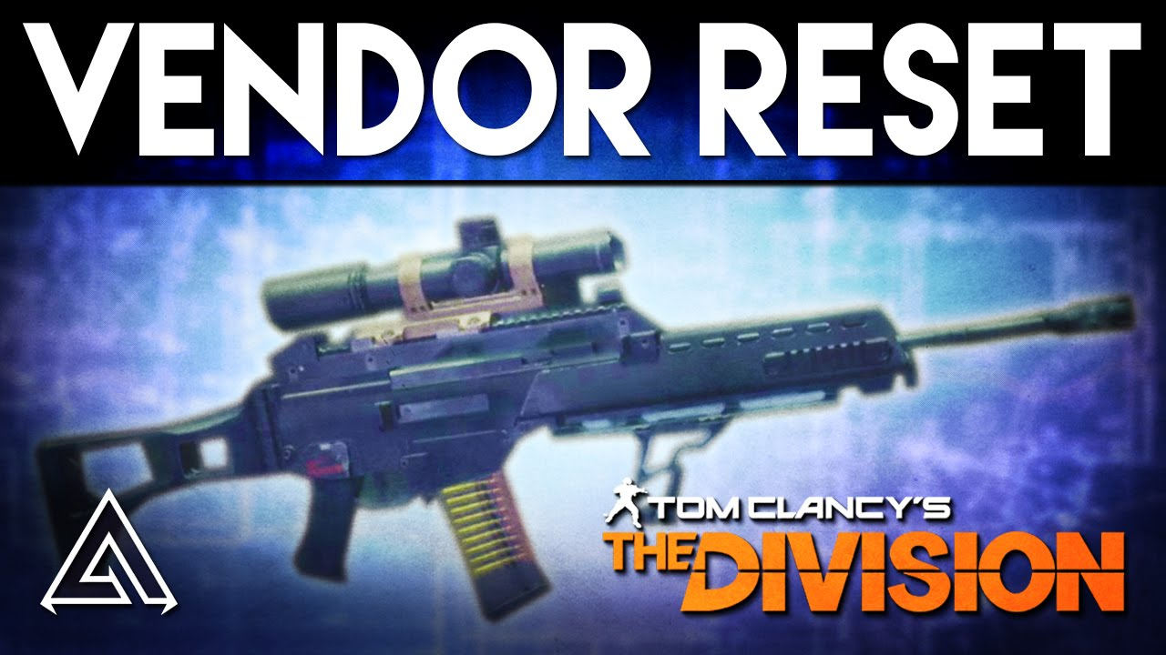 The Division Weekly Vendor reset: Military G36 and Custom