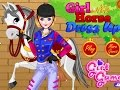 Girl And Horse , Clean Up Horse - Dress Up Makeup Kids Games for Girls