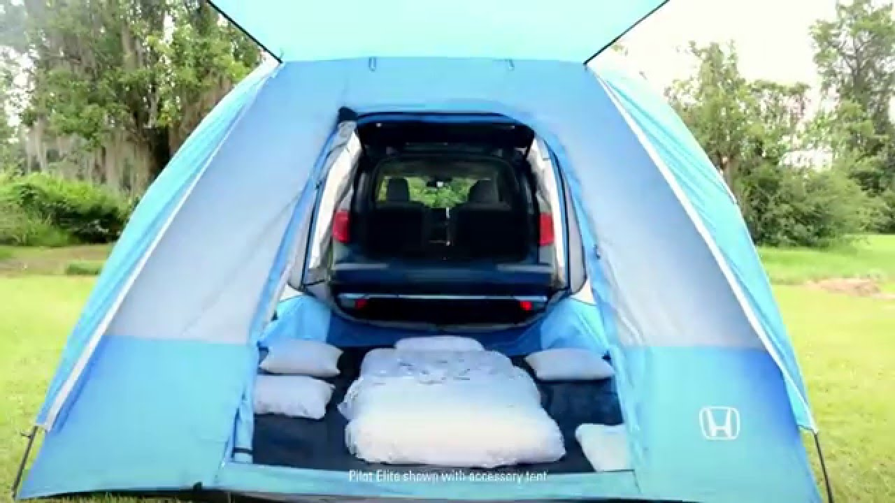 2016 Honda Pilot Tent - How to Lose the Sleeping Bag & 2016 Honda Pilot Tent - How to Lose the Sleeping Bag - YouTube