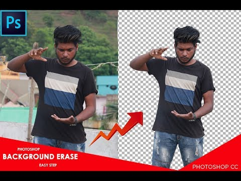 Easy Way To Erase Background In Photoshop// How To Remove Background In Photoshop // By Sony Jackson