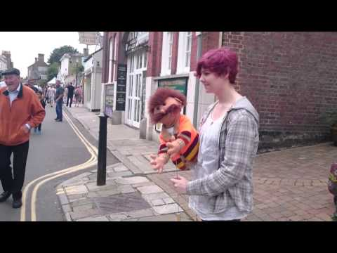 Reviewing the Situation Ron Moody Puppet Performance - Arundel Festival