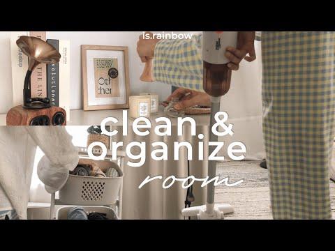 Room Decor Vlog🧴🧹Clean & Organize จัดห้องใหม่ unboxแนะนำไอเท็มจัดระเบียบของ เสื้อผ้าxbebe doang 🛋