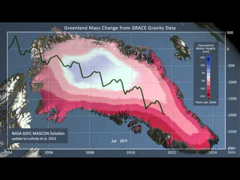 GRACE Satellite shows Greenland Mass Loss