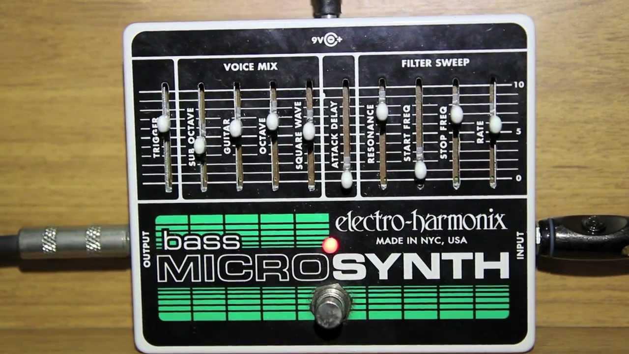 bass micro synthesizer electro harmonix ehx youtube. Black Bedroom Furniture Sets. Home Design Ideas