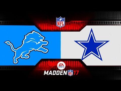 MONDAY NIGHT MADDEN NFL DETROIT LIONS VS DALLAS COWBOYS - Monday Night Football MADDEN 17