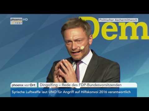 Politischer Aschermittwoch: Rede von FDP-Chef Christian Lindner am 01.03.17