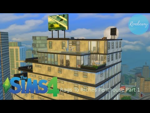 The Sims 4 Speedbuild: Rags To Riches Penthouse Part 1