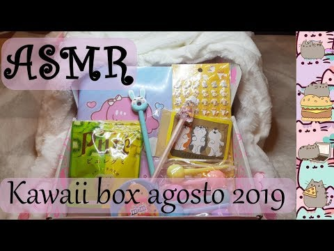 ASMR (Español): kawaii box de agosto