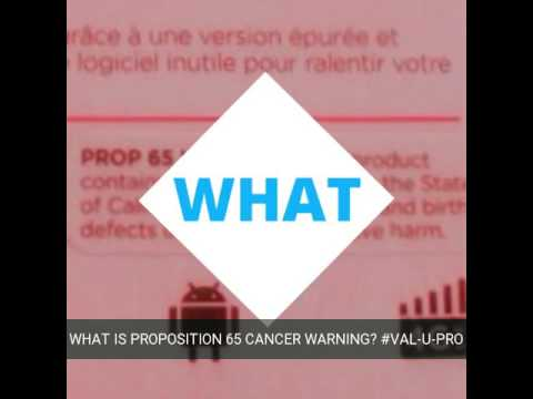 Warning: What is proposition 65 cancer warning?