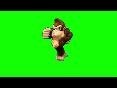 Donkey Kong Default Dance Green Screen