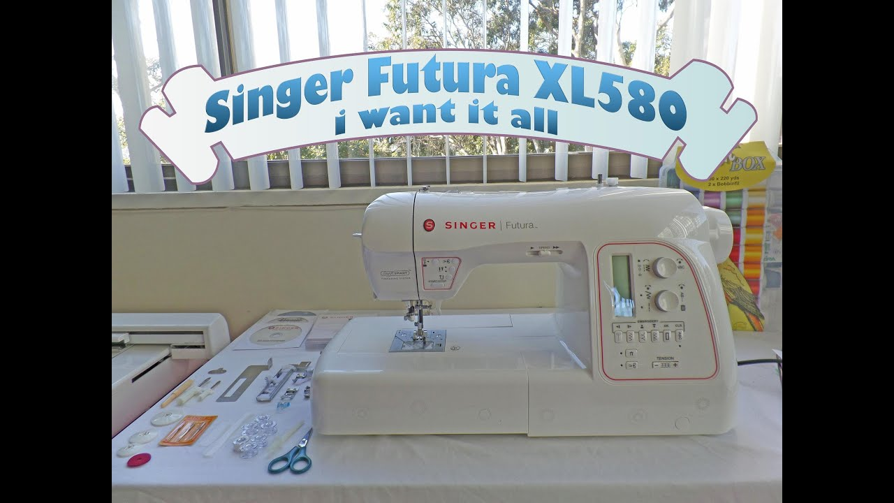 Wow Singer Futura XL580, new features and all that came with it ...