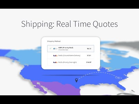 Shipping: Real Time Quotes | BigCommerce Tutorials