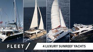 Four luxury Sunreef yachts cruising together