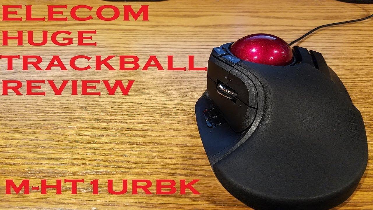 Elecom M-HT1URBK Huge Trackball Review - YouTube