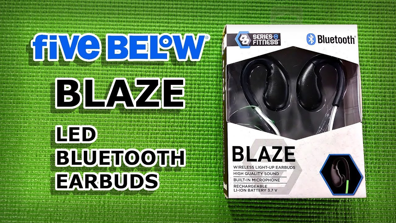 acfb158476e Blaze LED Bluetooth Earbuds | Five Below Review | Budget Buys Ep. 26 ...