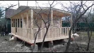 Веранда пристроенная к бытовке 7х1,5м(Каширское шоссе, 8км от МКАДа http://bitovkino.ru/ 8 (495) 111-52-35 Бытовки дачные деревянные., 2016-04-26T21:22:28.000Z)