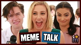 RIVERDALE Cast React to Being Memes - Cole Sprouse, Lili Reinhart, Camila Mendes Interview | SO-M