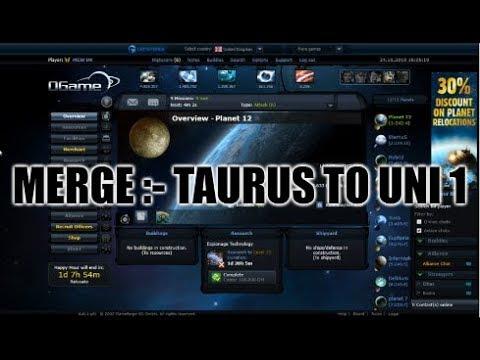 e60ba2946016 OGame  - The Merge. Moving From Taurus To Uni 1! - YouTube