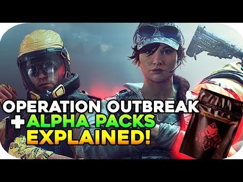 OUTBREAK ALPHA PACKS EXPLAINED! - Rainbow Six Siege: Operation outbreak