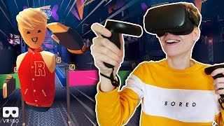 VIRTUAL REALITY NINJA WARRIOR! | Rec Room in VR180 (Oculus Quest Gameplay)