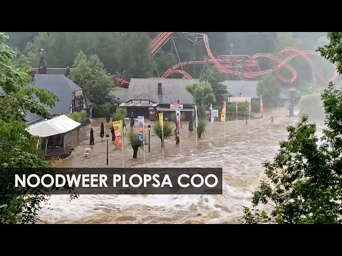 Enorme ravage bij pretpark Plopsa Coo door noodweer