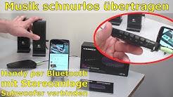 Bluetooth Audio Adapter für schnurlose Musik von Handy an Stereoanlage