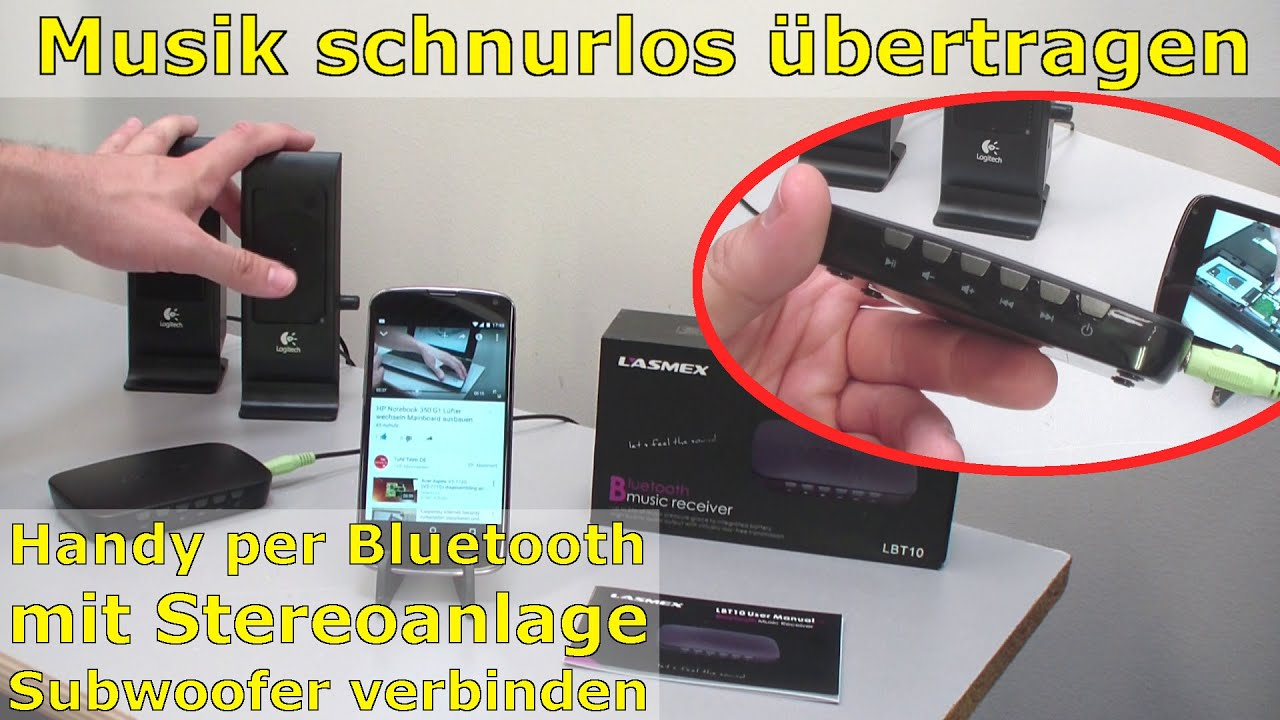 bluetooth audio adapter f r schnurlose musik von handy an