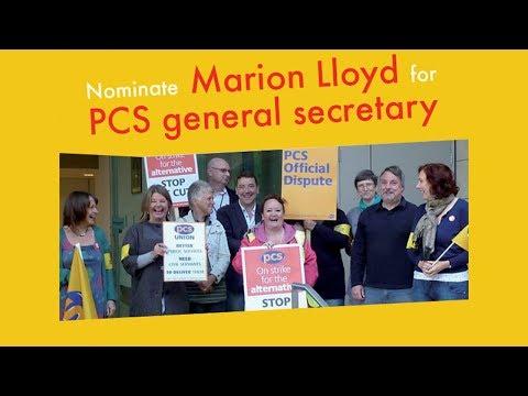 Nominate Marion Lloyd for PCS general secrertary