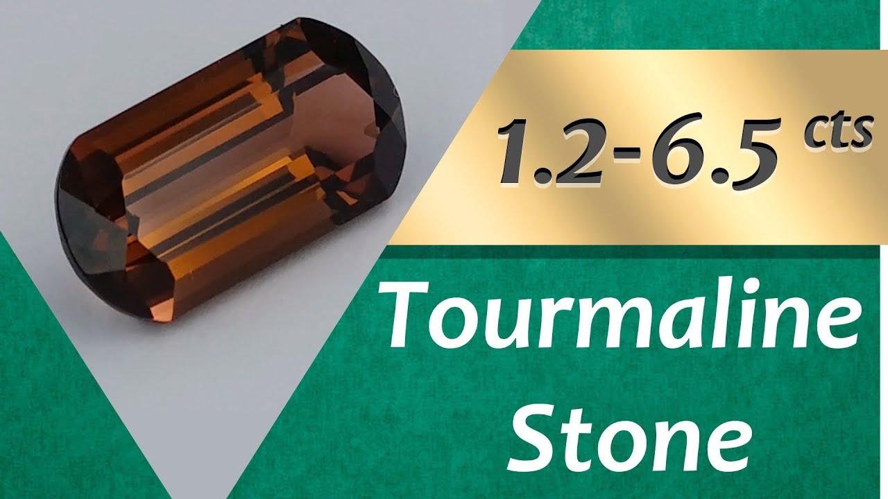 Tourmaline Stone. 1.29-6.55 Carat Natural Stones of Tourmaline ...