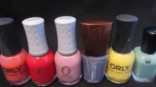 My Top 6 Favorite Nail Lacquers For Summer 2013