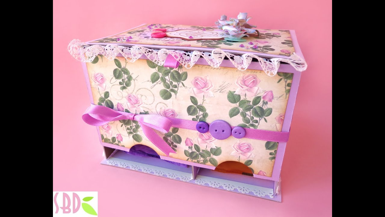 Scatola porta assorbenti fai da te panty pads holder box diy youtube - Porta dvd fai da te ...
