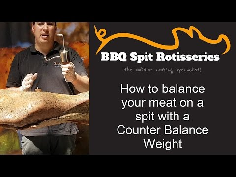 Balancing Meat On A Spit Rotisserie