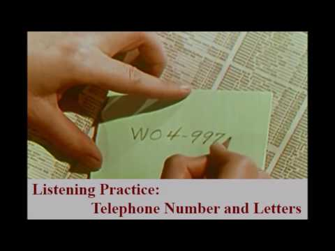 Listening Practice Telephone Number and Letters