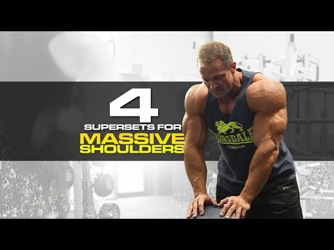 4 SUPERSETS FOR MASSIVE SHOULDERS