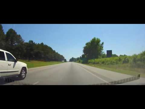 Driving on Interstate 95 through entire state of North Carolina