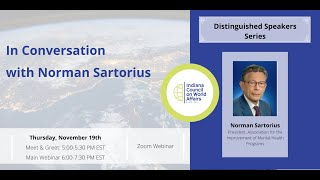 Distinguished Speakers: In Conversation with Norman Sartorius