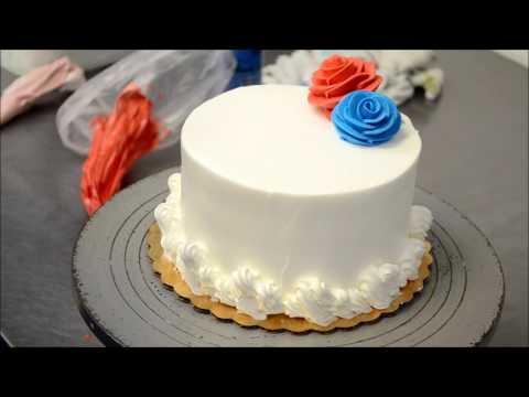 Holiday themed cake tutorial - July 4 cake