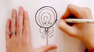 How to Draw a Cartoon Lollipop