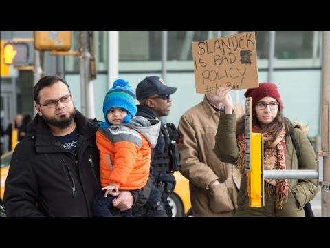 Protest at JFK after immigrants detained