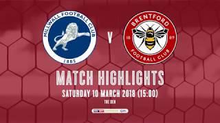 2017/18 HIGHLIGHTS: Millwall 1-0 Brentford
