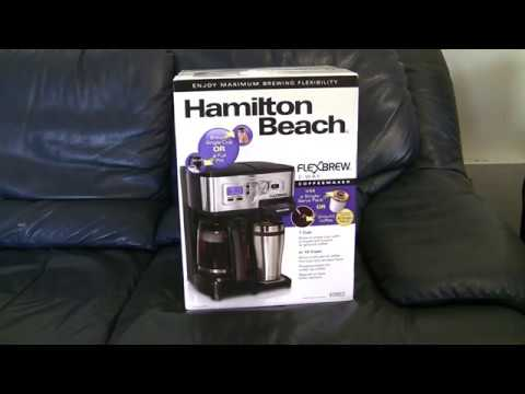 Hamilton Beach FlexBrew Coffee Maker Unboxing