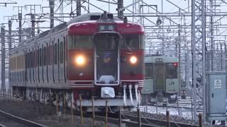 夜明け前に妙高高原駅へ回送され通勤時間帯に長野駅へ運行する、しなの鉄道北しなの線115系5両。