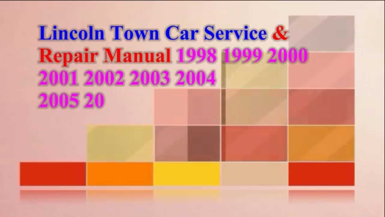 lincoln town car service repair manual 2009 2008 2007. Black Bedroom Furniture Sets. Home Design Ideas