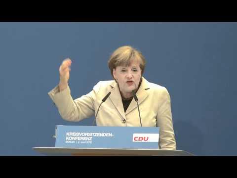 """Angela Merkel: """"Wir arbeiten für die Menschen"""""""
