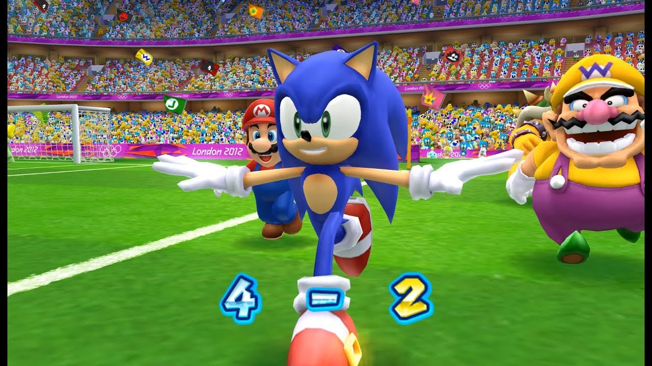 Mario & Sonic at the London 2012 Olympic Games football part 2